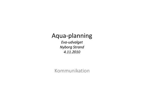 Aqua-planning-kommunikation