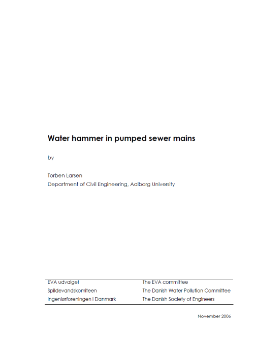 Water hammer in pumped sewer mains